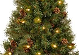4ft Christmas Tree Uk by 4ft Pre Lit Battery Operated Pine Cone Burlap Artificial Christmas