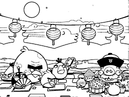 Charming Beautiful Free Printable Angry Birds Cartoon Coloring Pages For Kids
