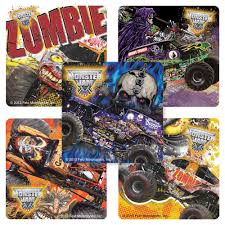 100 Zombie Truck Games Monster Jam Stickers 75 Per Pack Amazonin Toys