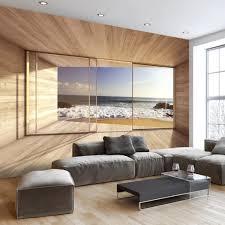 fototapete selbstklebend fensterblick 343x256 cm tapete wandtapete wandbilder klebefolie dekofolie tapetenfolie wand dekoration wohnzimmer meer