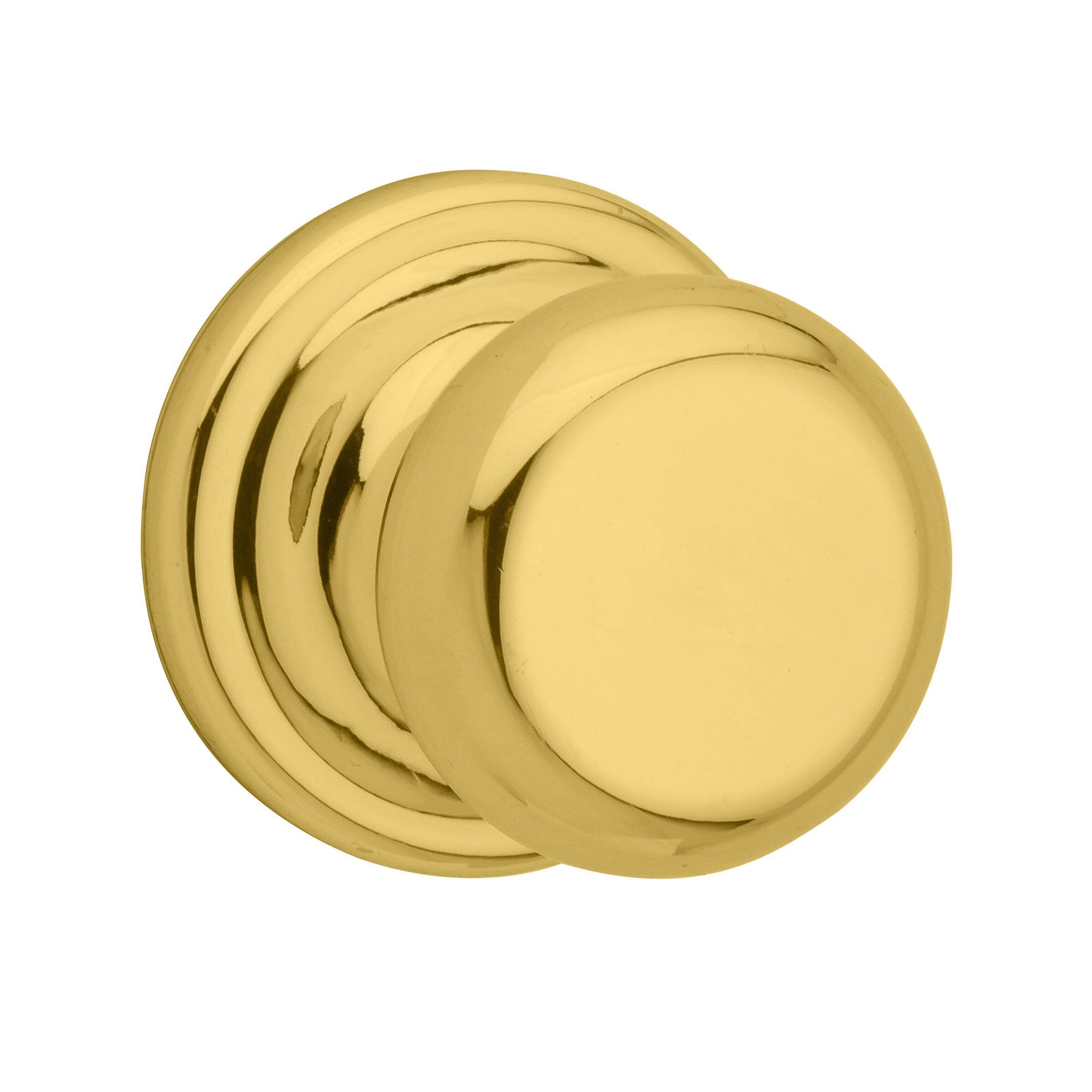 Kwikset 720J 3 CP Polished Brass Juno Passage Knob