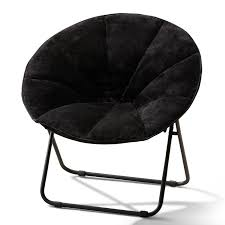 Mainstays Folding Plush Saucer Chair, Multiple Colors Mainstays Cambridge Park Wicker Outdoor Rocking Chair Folding Plush Saucer Multiple Colors Walmartcom Mahogany With Sling Back Natural 6 Foldinhalf Table Black Patio White Solid Wood Slat Brown Shop All Chairs