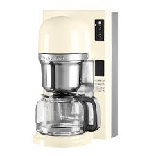 Traditional Kitchen With Almond Cream KitchenAid Coffee Maker KCM0802MS 14 Cup Glass Carafe And