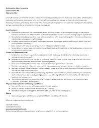 Retail Sales Associate Resume Automotive