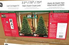 Garland Lit P Pre Christmas Trees Costco 75 Foot Tree
