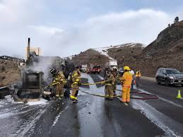 100 Truck Explosion I70 Closed Near Genesee For Semi Truck Fire