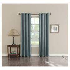 Eclipse Thermapanel Room Darkening Curtain by Eclipse Shayla Thermaweave Room Darkening Curtain Light Blue