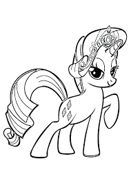 Twilight Sparkle Pony Coloring Page Book My Little As Well