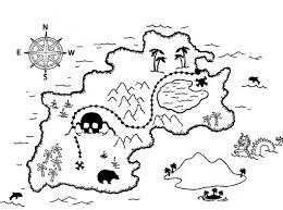 Treasure Map Amazing Treasure Map Coloring Page