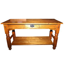 Rustic Style Console Table With One Drawer