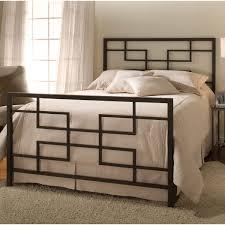 Modern Full Size Metal Bed Frame Glamorous Bedroom Design