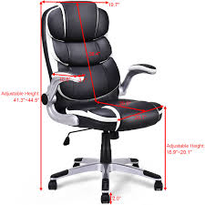 US $109.99  Giantex PU Leather High Back Executive Office Chair Modern  Swivel Desk Task Computer Gaming Chairs Ergonomic Furniture HW56602 On ... Soho Sardinia Highback Executive Chair Pu Leather High Back Office Task Ergonomic Computer Desk Titan Big And Tall Sierra Office Chair Grey Microfiber High Back Executive Modern Best Mesh With Headrest Buy Chairergonomic Chairoffice Mocha Eco Ergodynamic Sumo Faux Black Ofm Collection Model 500l By Flash Fabchair Ayrus With Extra Cushion Color Upholstery Center Tilt Mechanism Chrome Plated Premium Base