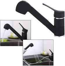 ausziehbarer küchenarmatur küche wasserhahn mit ausziehbarer brause 360 drehbarer wasserhahn für kaltes und warmes wasser schwarz