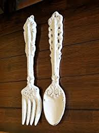 Wooden Fork And Spoon Wall Hanging by Amazon Com Knife Fork Spoon 24