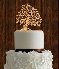 This Listing Is For Cherry Wood Wedding Cake Topper In The Shape Of Tree