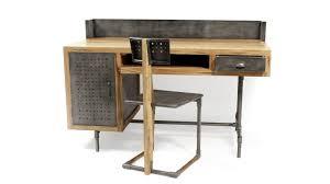 bureau en bois bureau belfast de style industriel en bois et métal mobilier moss