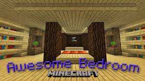 Minecraft Pe Living Room Designs by Minecraft How To Make An Awesome Bedroom Design Youtube