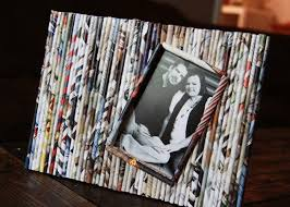 Paper Reed Frame Crafts Recycle