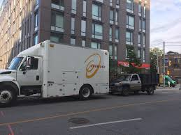 100 Tims Trucks Enbridge And Another Truck Parked On City Bike Lane At Lower River