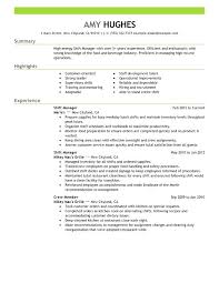 Example Of Resume Kitchen Staff Together With Sample For A