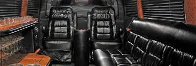 Portland Oregon Executive Van Black Leather Interior