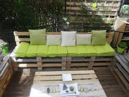 Diy Pallet Patio Furniture Deck With Lawn Regarding Your Home