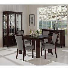 Inspiration Dignified Dark Brown Modern Dining Room Set With Classy ... Shiro Dark Wood Modern Fniture Set Of Two Upholstered Brown Ding Charlotte Modern Ding Chair With Chrome Legs Brown Zuri Fniture Simple And Chair In South America Retail Green Leather With Polished Wooden Frame And Base Room Sparrow Wood Set 2 On Hautelook Texas Ireland Bracket Chairs Gus Luxurious Boasts A Table Illuminated Whosale Brooklyn Curve Tan Faux Steel Carver Vasa Removable Cover Pablo Gingko Home Furnishings