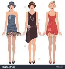 Flapper Dress Clipart 35