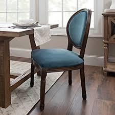Blue Velvet Oval Back Dining Chair