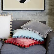 Design Ideas Pom Pom Pillow Covers From West Elm Design Trend
