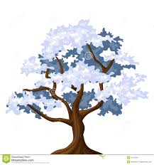 Snowy Oak Tree Royalty Free Stock Image