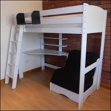 bedroom full size loft bed with desk and futon chair full size