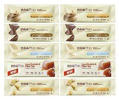 Think Thin Variety Pack 10 Mix Bars 21oz Ea 2 Of White Chocolate