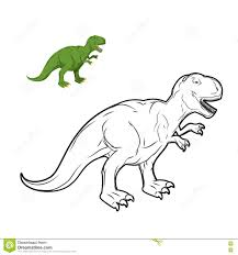 Livre De Coloriage De Dinosaure De Rex De Tyrannosaure Illustration