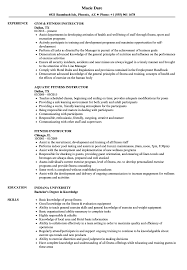 Download Fitness Instructor Resume Sample As Image File