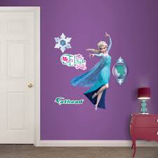 Fathead Princess Wall Decor by Overstock Fathead Jr Disney Frozen Elsa Wall Decals Title