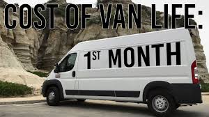 How Much Does Van Life Cost First Month Expense