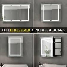 details zu led spiegelschrank badezimmerspiegel badschrank mit led beleuchtung hochglanz