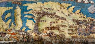 siege a great siege frescoes in exhibition boco boutique