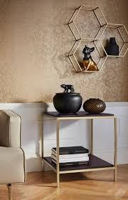 leonique beistelltisch cherlen mit zwei ablageflächen und goldfarbenem gestell quadratisch auch als nachttisch kaufen otto