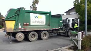 Green Garbage Truck - YouTube