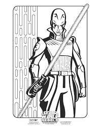 Star Wars Rebel Ezra Bridger Coloring Page