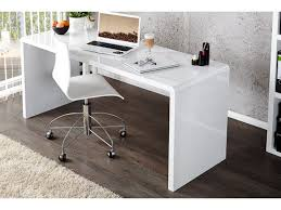 bureau design elegance blanc laque xl