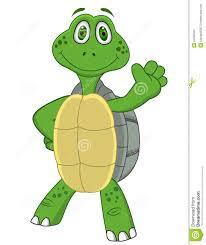 Turtle Waving Goodbye Clipart 1