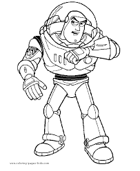 Toy Story Coloring Page Disney Pages Color Plate Sheet Printable