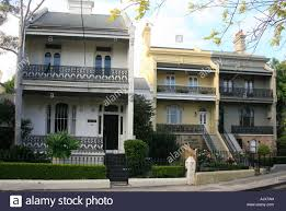 100 Sydney Terrace House Elegant Houses In Paddington Australia Stock Photo
