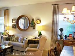 Red Country French Living Rooms by A Stroll Thru Life Country French Checks Family Room Done