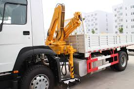 100 Truck Mounted Boom Lift QYS32ZIII Knuckle Boomed Truckmounted Crane With Max