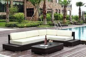 canap salon de jardin salon jardin angle salon de jardin en angle en r sine tress e marron