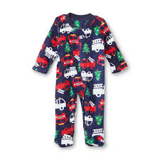 Little Wonders Newborn Boy's Sleeper Pajamas - Fire Trucks ...